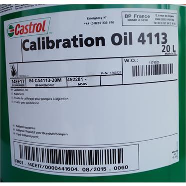 Castrol Calibration Oil 4113 – это калибровочная жидкость для тестирования дизельных систем впрыска.