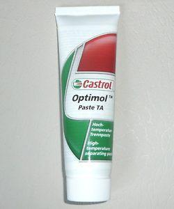 Castrol Optimol Paste TA - это серебристая высокотемпературная паста для резьбовых соединений.