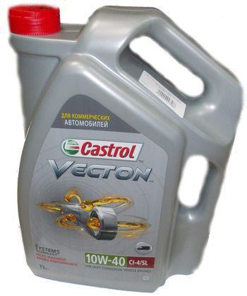 Castrol Vecton 10W-40 - это частично синтетическое моторное масло для дизельных и бензиновых двигателей