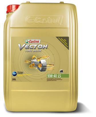 Castrol Vecton Long Drain 10W-40 LS - это полностью синтетическое моторное масло со сниженной зольностью