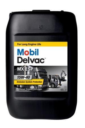 Mobil Delvac MX ESP 15W-40 является дизельным моторным маслом с наивысшими эксплуатационными свойствами