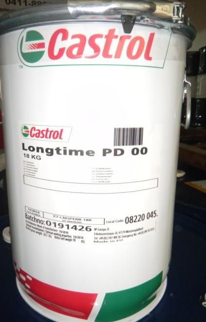 Castrol Longtime PD 00 - смазка для антифрикционных подшипников с резервуаром для смазки и негерметичных редукторов.