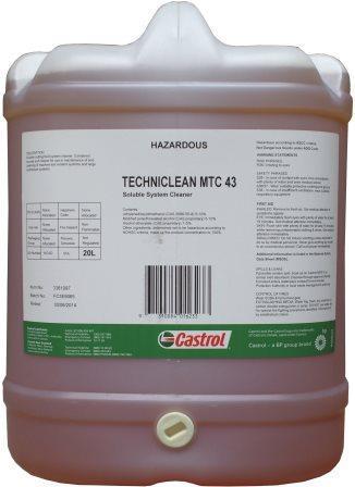 Очиститель Castrol Techniclean MTC 43 предназначен специально для борьбы с широким рядом загрязнений станков и систем