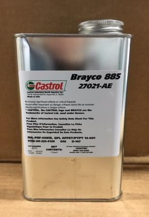 Castrol Brayco 885 - это синтетическое авиационное приборное масло с низкой испаряемостью