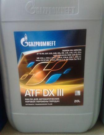 Gazpromneft ATF DX III - полусинтетическая жидкость для АКПП и ГУР легковых и грузовых автомобилей, автобусов, внедорожников