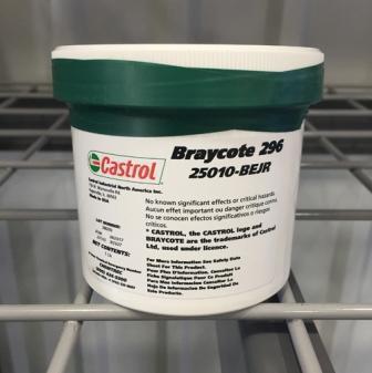 Castrol Braycote 296 – это перфторполиэфирная смазка для применения в условиях высокого вакуума