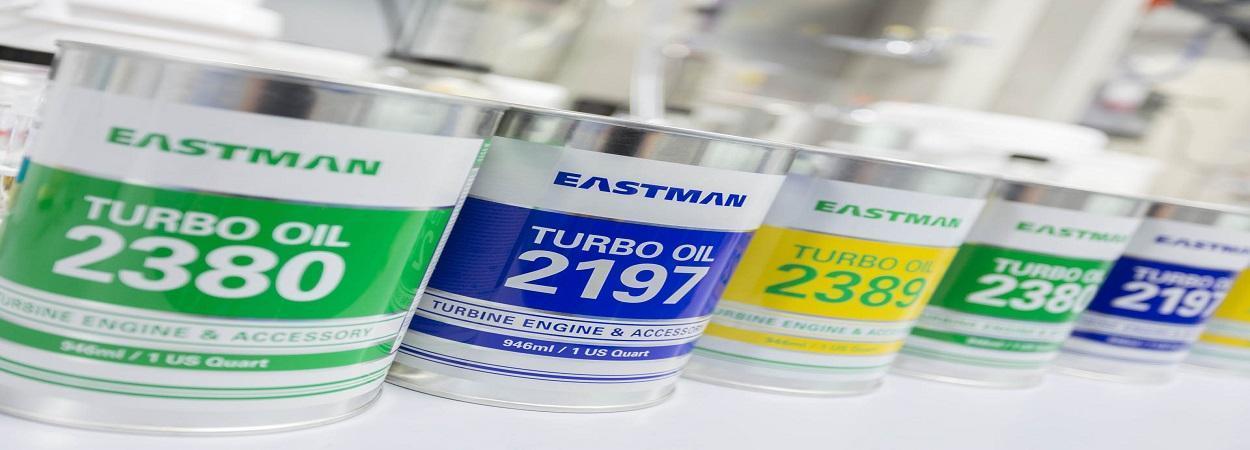 Eastman Aviation Solutions для авиационной промышленности: турбинные масла Eastman Turbo Oil 2197, Eastman Turbo Oil 2380, Eastman Turbo Oil 2389, Eastman Turbo Oil 25. А также авиационные гидравлические жидкости Skydrol LD-4 и Skydrol PE-5.