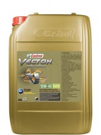 Castrol Vecton Long Drain 10W-40 Е6/Е9 – полностью синтетическое моторное масло со сниженной зольностью