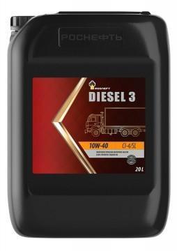 Rosneft Diesel 3 10W-40 – всесезонное полусинтетическое моторное масло для дизельных двигателей коммерческой техники