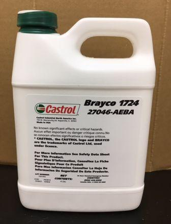 Castrol Brayco 1720 Series: Brayco 1721, Brayco 1722, Brayco 1723, Brayco 1724 - специальные перфторэфирные смазочные материалы.