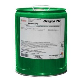 Castrol Brayco 717 - гидравлическая жидкость средней вязкости соломенного цвета.