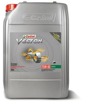 Castrol Vecton 15W-40 CI-4 Plus/SL/E7 – это передовое минеральное масло для тяжелых дизельных двигателей
