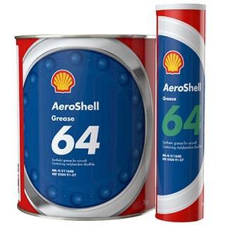 Смазка AeroShell Grease 64 содержит Aeroshell Grease 33, обогащенную 5 % дисульфида молибдена.