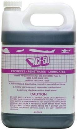 Lear Chemical Research ACF-50 – 4 Liter Jug – антикоррозионный смазочный состав для аэрокосмической промышленности.