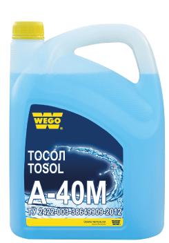 WEGO ТОСОЛ А-40М (аналог – ЛУКОЙЛ ТОСОЛ СУПЕР А40) – готовая к применению охлаждающая жидкость.